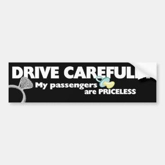 Conduzca cuidadosamente pegatina para auto