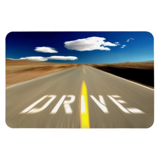 Conduzca el camino del desierto imanes rectangulares