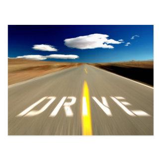 Conduzca el camino del desierto postal