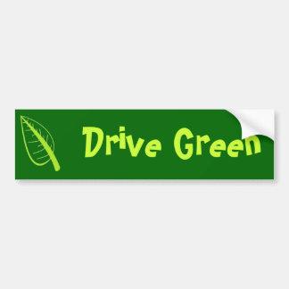 Conduzca el verde pegatina para auto