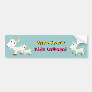 Conduzca lentamente a la pegatina para el parachoq pegatina para auto