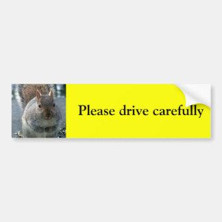 ¡Conduzca por favor cuidadosamente! Pegatina Para Auto