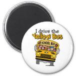 Conduzco el autobús amarillo imanes para frigoríficos