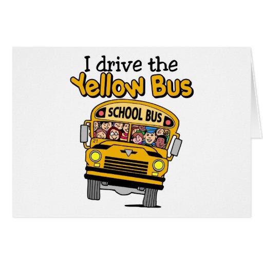 Conduzco el autobús amarillo tarjetón