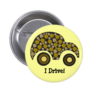 """""""Conduzco"""" el botón del nuevo conductor Pin Redondo De 2 Pulgadas"""