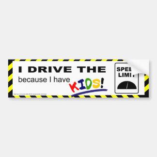 Conduzco el límite de velocidad… pegatina para auto
