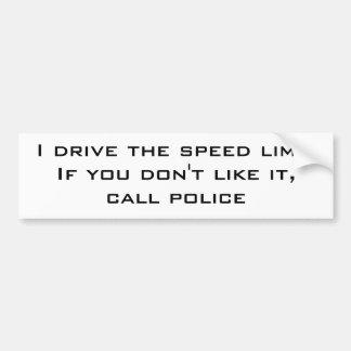 Conduzco el límite de velocidad pegatina para auto