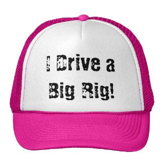 ¡Conduzco un aparejo grande! Gorras De Camionero
