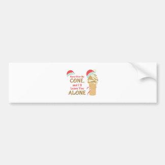 Cone Alone Bumper Sticker