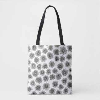 Cone Flower Pattern Tote Bag