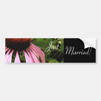 Cone Flower Wedding Bumper Sticker Car Bumper Sticker