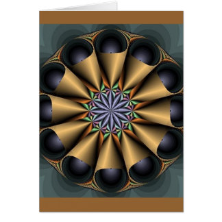 Cone Fractal Greeting Card