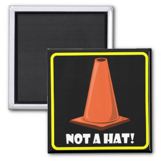 CONE HAT 1a 2 Inch Square Magnet