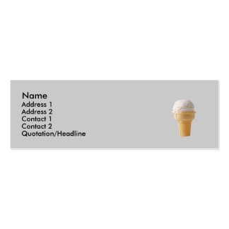 cone icecream skinny business card