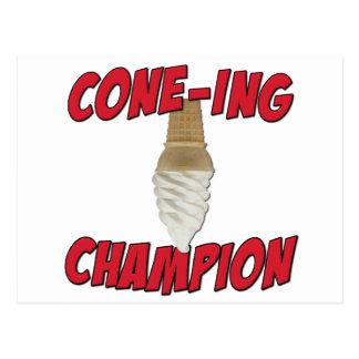 Cone-Ing Champion Postcard