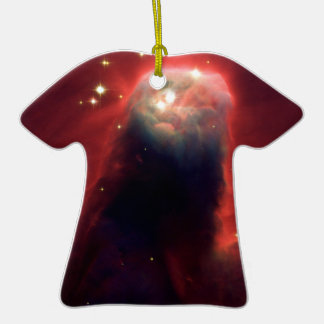 Cone Nebula (Hubble Telescope) Double-Sided T-Shirt Ceramic Christmas Ornament