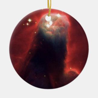 Cone nebula in space - Jesus Ceramic Ornament
