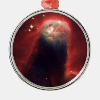 Cone nebula in space - Jesus Metal Ornament