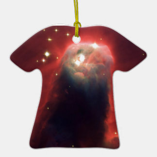 Cone nebula in space - Jesus Christmas Tree Ornaments