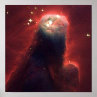 Cone nebula in space - Jesus Print