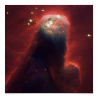 Cone Nebula in space NGC 2264 Poster