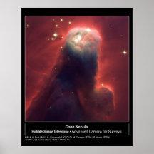 Cone Nebula NGC 2264 Hubble Telescope Poster