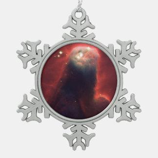 Cone Nebula (NGC 2264) Snowflake Pewter Christmas Ornament