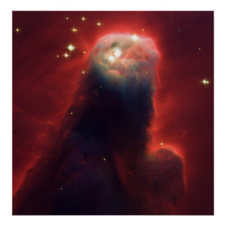 Cone Nebula NGC 2264 Taken by the Hubble Telescope Poster