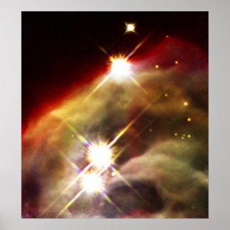 Cone Nebula starry night Poster