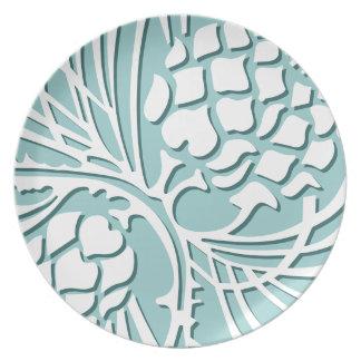 Cone of Elegance - sea Dinner Plates
