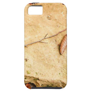 CONE ON STONE AMONG LEAVES iPhone SE/5/5s CASE
