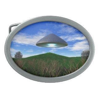 Cone Shaped UFO Oval Belt Buckles