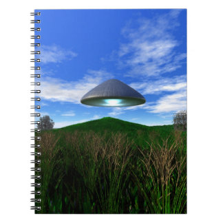 Cone Shaped UFO Notebook