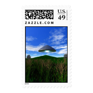 Cone Shaped UFO Postage