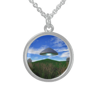 Cone Shaped UFO Sterling Silver Necklace