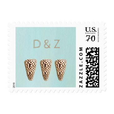 Beach Themed Cone Shell Coastal Wedding Postage