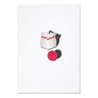 cone with bowling ball card