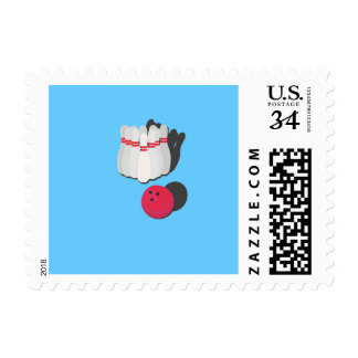 cone with bowling ball postage