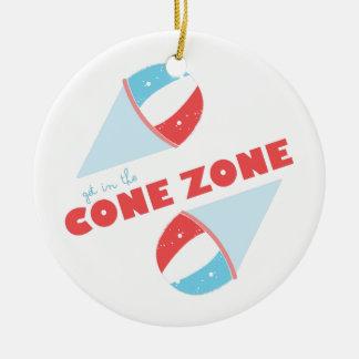Cone Zone Ceramic Ornament