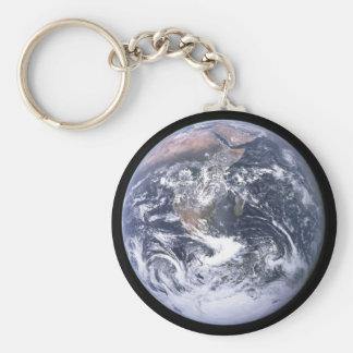 Conecte a tierra de Apolo 17, el mármol azul Llavero Redondo Tipo Pin