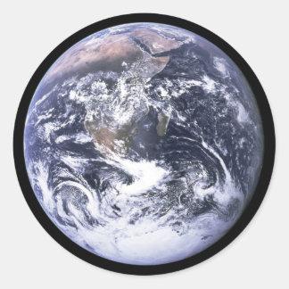 Conecte a tierra de Apolo 17 Pegatina Redonda