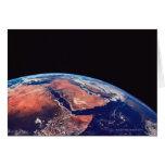 Conecte a tierra de un satélite 3 tarjeta de felicitación