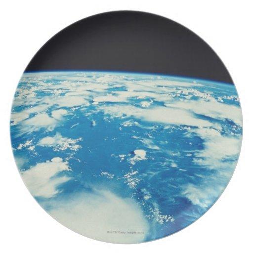 Conecte a tierra del espacio 12 plato de cena