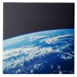 Conecte a tierra del espacio 17 azulejo cuadrado grande