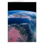 Conecte a tierra del espacio exterior 5 tarjeta de felicitación