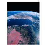 Conecte a tierra del espacio exterior 5 tarjetas postales