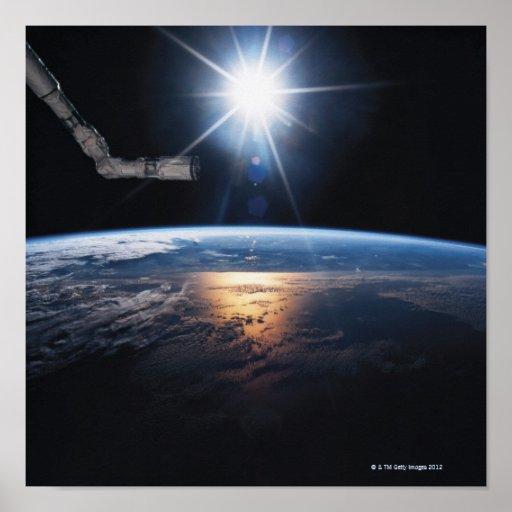 Conecte a tierra del transbordador espacial 2 póster