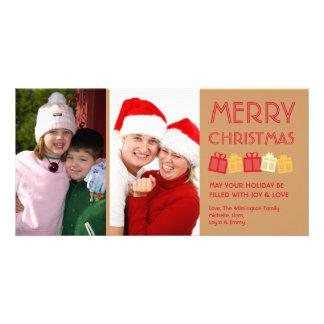 Conecte a tierra las cajas de regalo marrones del  tarjetas personales