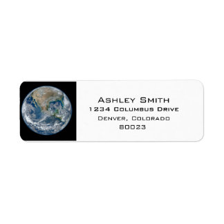 Conecte a tierra nuestro mundo etiqueta de remitente