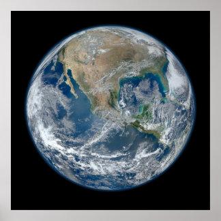 Conecte a tierra nuestro mundo póster